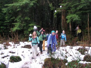 Barclay Creek, snowball fight