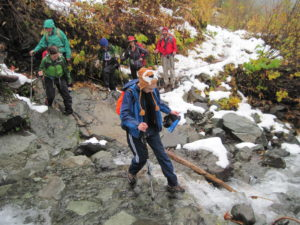 Fall hiking transitions into winter