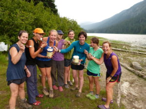 Day 7 of our 92 miler on the PCT-our re-suppliers drove 200 miles and hiked ICE CREAM and OREOs to us.